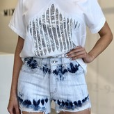 Launa Ripped Sequin Star Top