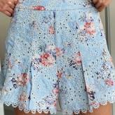 Leilani Square Neck Top & Shorts Eyelet Set