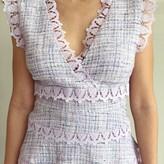 Brihena Sleeveless V Neck Tweed Dress