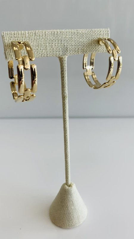Thic Chain Style Hoops