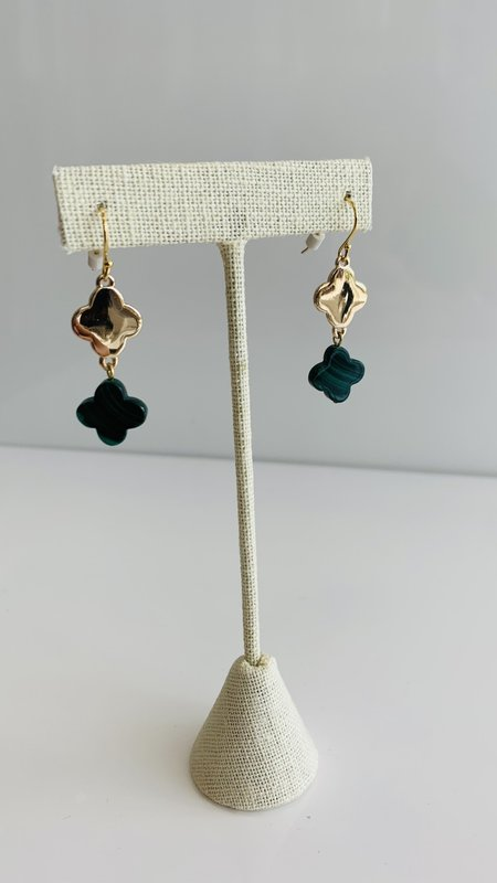 Lucky Clover Drop Earring