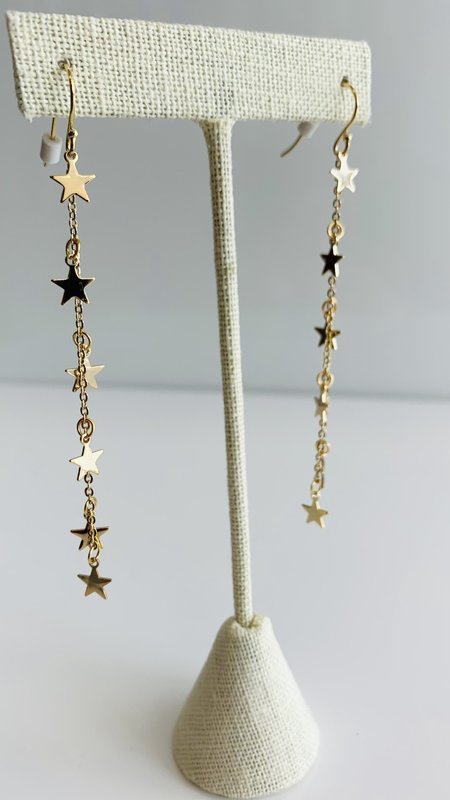 Star Long Drop Earring