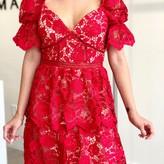 Heloise  Puff Sleeve Lace Dress