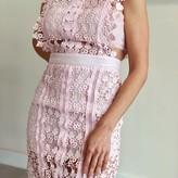 Florence Sleeveless Hollow Lace Dress