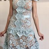 Minnah Asymmetric Skirt Detaill Lace Dress