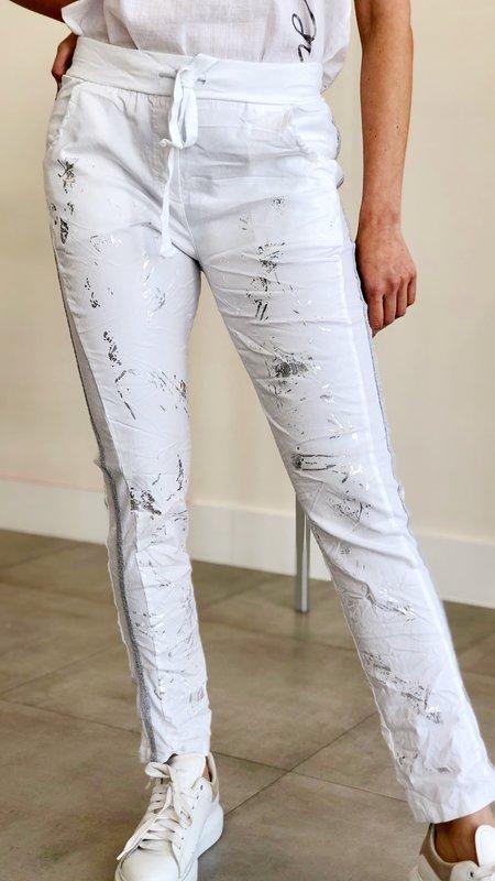 Nela Silver Splash Detail Joggers