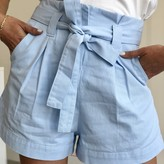 Marcie High Waist Paperbag Shorts