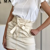 Tibbie High Waist Tie Detail Mini Skirt