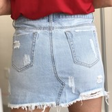 Jenik Distressed Star Studed Denim Skirt
