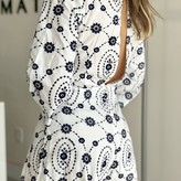 Ghema Scalloped Hem Embroidered Rompers