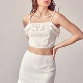 Lerina Ruffle Hem Eyelet Skirt