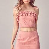 Kena Ruffle Hem Eyelet Skirt