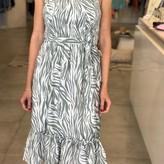 Etta Zebra Print Midi Dress