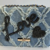 Denim heart/Love Detail Bag