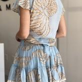 Poppy Tassel Hem Ruffle Skirt