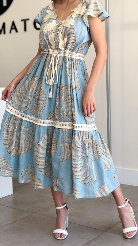 Nile Crochet & Embroidery Detail Maxi Dress