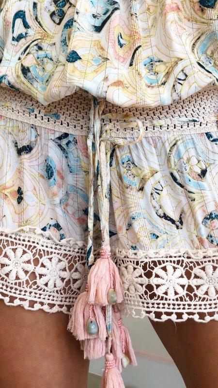 Lorina Crochet  & Tassel Detail Shorts