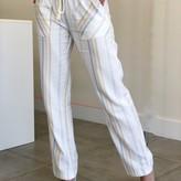 kauai Striped High Waist Linen Pant