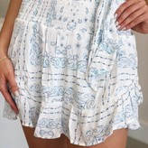 Celie Bandana Print Criss Cross Rufle Skirt