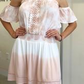 Hester Crochet Detail Ruffle Dip Dye Dress