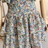Mabbie Ruffle Smocked Waist Floral  Skirt