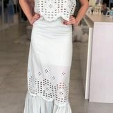 Laurene Eyelet Lace Skirt Top & Skirt Set ( 2 pieces)