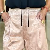 Callista Zebra Print Shorts Front Pockets