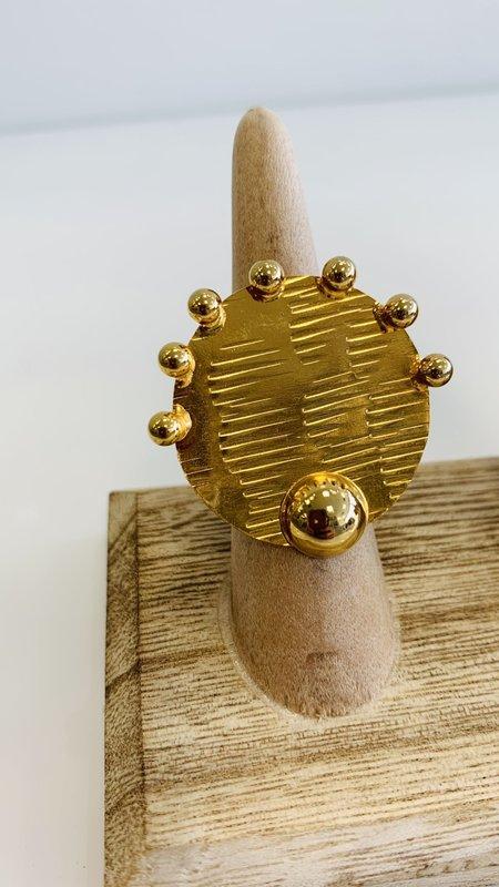 Aine Round Adjustable Ring