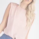 Rosy Shoulder Pad Blouse