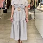 Margot Belted Off-Shoulder Dress