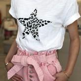 Skye Star Shaped Leopard Print T=Shirt