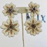 Lilies Pearls & Rhinestones Earrings