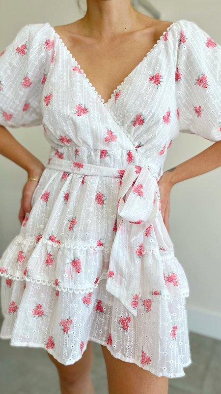 Cassia Floral Print Dress Puff Sleeve