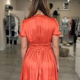 Aurora Short Sleeve Pleated Dress With Smocking Details