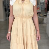 Magnolia Pleated Dress With Collard Detail