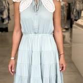 Celeste Pleated Dress With Collard Detail