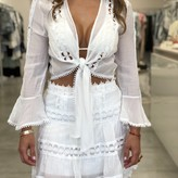 Athena Lace Trim Skirt
