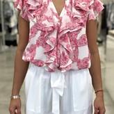 Kristen Ruffle Collar Blouse