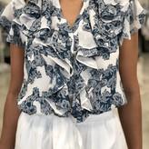 Jill Ruffle Collar Blouse