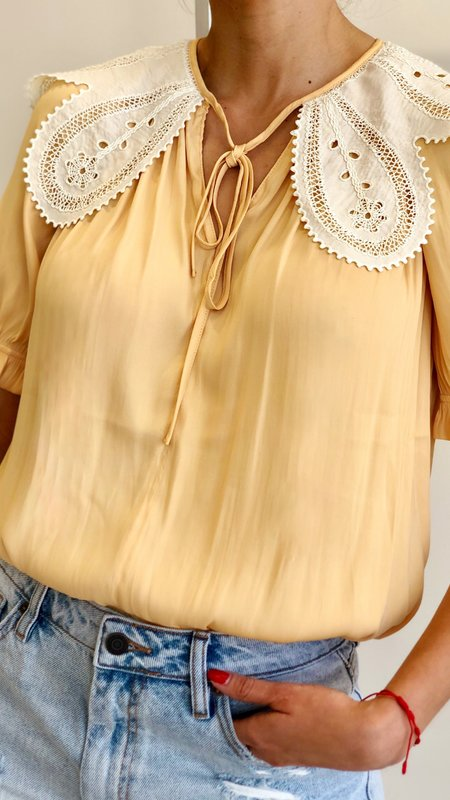 Ida Blouse with Collar Detail and Tie
