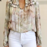 Lora Long Sleeve Blouse Marble Print
