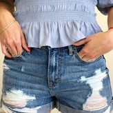 Tory High Rise Boyfriend Color Detail Roll Up Shorts