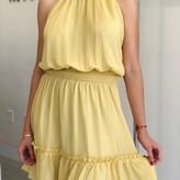 Aurelia Tiered Halter Neck Dress