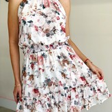 Cataleya Floral Print Halter Smocked Waist Dress