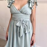 Simone Satin Mini Ruffle Dress