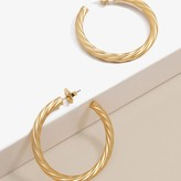 Swirl Large Hoops / 18k Gold Plated