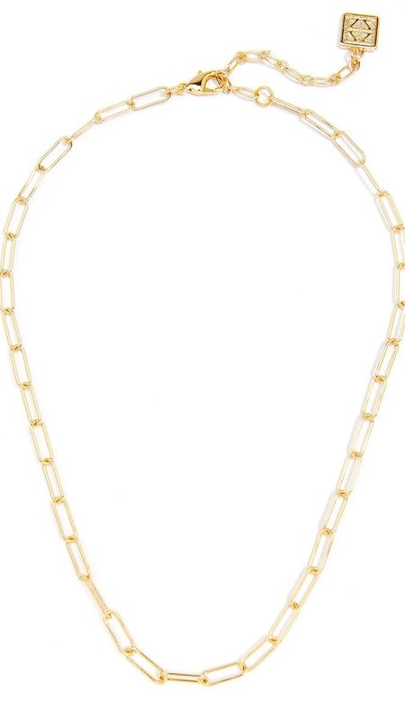 Paper Clip Link Necklace / 18K Gold Plated