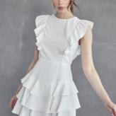 Lyra Open Back Ruffled Dress