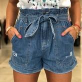 Aria High Waist Denim Shorts