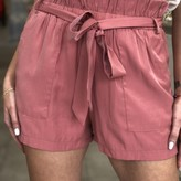 Lucy Belted Shorts with Front Pockets